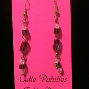 Cutie Patuties Block Bead Dangle Earrings